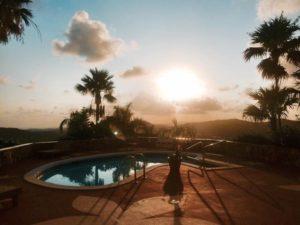 St. Croix yoga retreat sunset